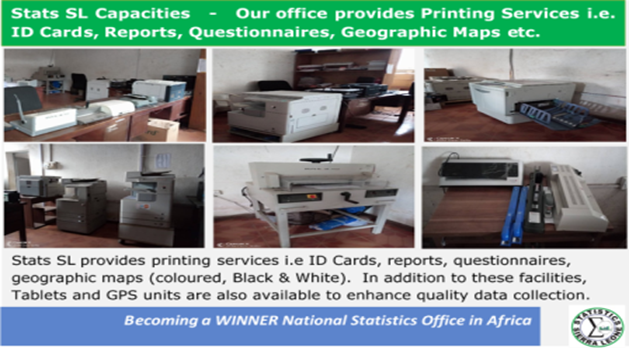 Statistics Sierra Leone Facilities - Our Printing Services