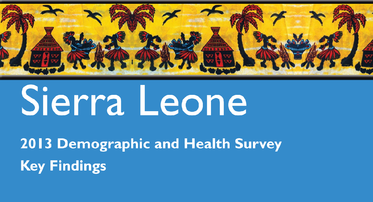Sierra Leone Demographic Health Survey (DHS 2018)