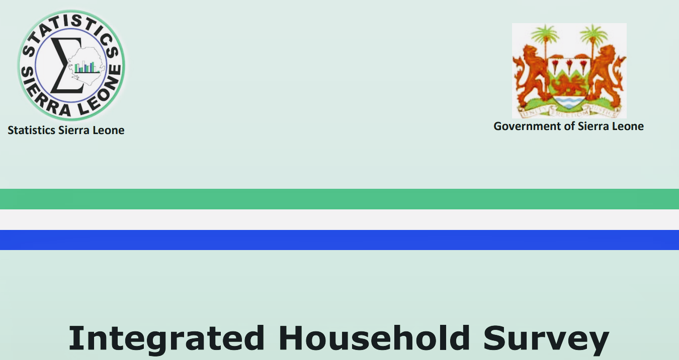 Sierra Leone Integrated Household Survey (SLIHS 2018)